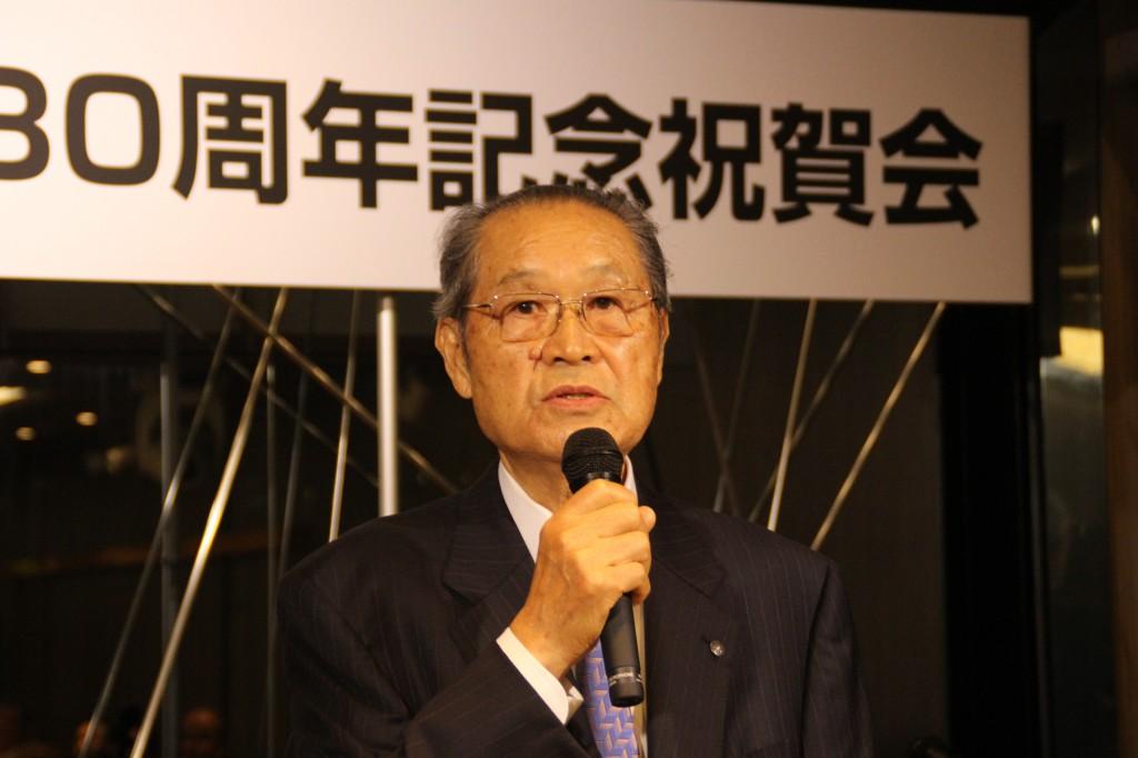 菅谷前会長のあいさつ